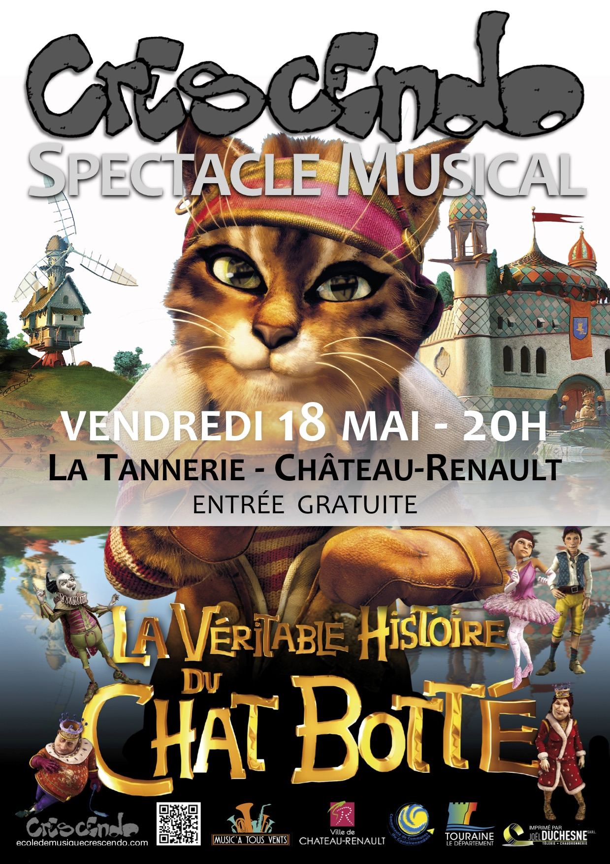 Affiche spectacle chat botte jpg